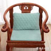 沙發墊 實木沙發墊四季布藝中式紅木沙發坐墊防滑海綿墊通用 AW9196『愛尚生活館』
