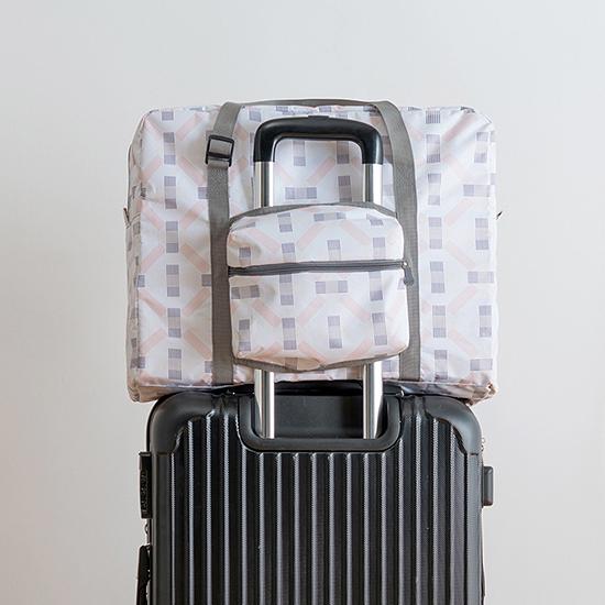 雅緻系列可摺疊行李包 印花 出國 便攜 旅行 收納 出差 多功能 出門【J113】生活家精品