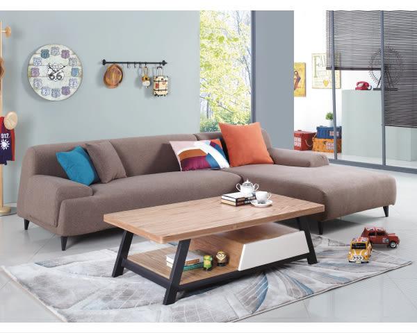 【YUDA】樂布朗 樂活 新概念 L型 高級 布沙發 (貴妃椅左右皆有提供)J8S  134-2