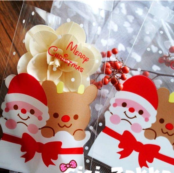 餅乾包裝袋   聖誕老公公麋鹿  10*15cm 20枚一包售 自黏包裝袋 想購了超級小物