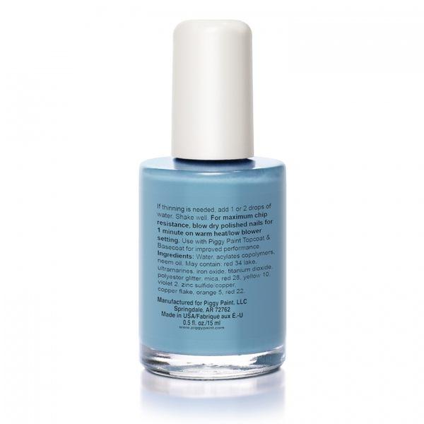 指甲油 美國 Piggy Paint 天然無毒兒童專用指甲油 - 粉藍泡泡 0049