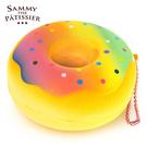 彩虹點點款【日本進口】甜甜圈 捏捏吊飾 吊飾 捏捏樂 軟軟 squishy 捏捏 Sammy the Patissier - 616470