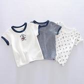 男童T恤 日系夏季男寶寶薄夏裝嬰兒童純棉半袖男童體t恤短袖男孩透氣上衣【快速出貨】