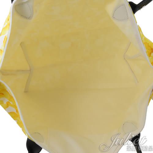 茱麗葉精品【全新現貨】Longchamp Le Pliage 長把花瓣印花肩提包.白黃 #1899