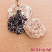 Red House 蕾赫斯-立體編織花朵胸針(共2色)