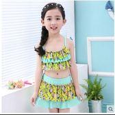 女童泳衣分體公主風裙式-多色