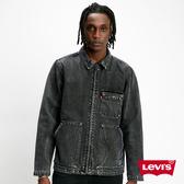 Levis 男款 牛仔外套 / 復古大口袋設計 / 黑灰水洗