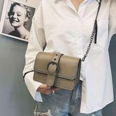 斜背包簡約夏天小包包女新款潮韓版少女小背包百搭斜背迷妳鍊條小方包 艾維朵