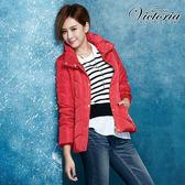 Victoria 腰帶絲棉外套-女-紅色