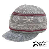 【PolarStar】女 星心保暖馬球帽『卡其』P19601 羊毛帽 毛球帽 針織帽 毛帽 毛線帽 帽子