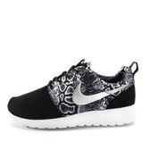 Nike WMNS Roshe One Print [599432-003] 女鞋 運動 休閒 潮流 黑 銀 白