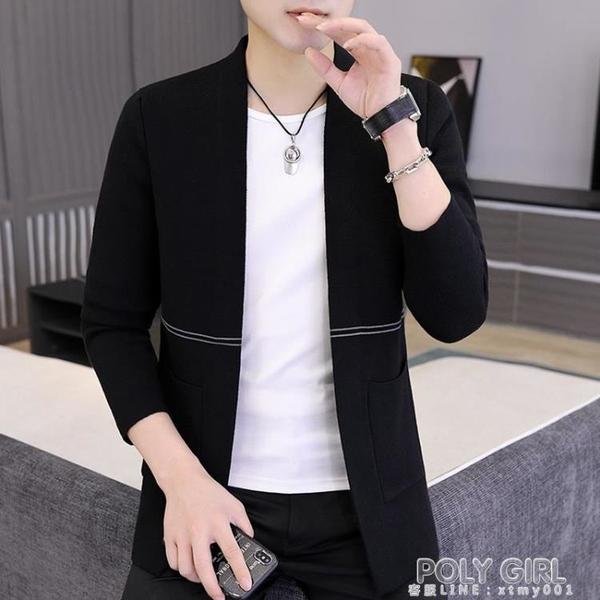 秋季新款毛衣男士寬鬆針織開衫韓版潮流ins薄款外穿線衣潮牌外套 秋季新品