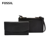 FOSSIL SAGE 多夾層兩用真皮小包-黑色 SLG1175001