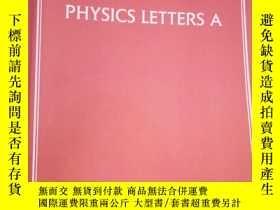 二手書博民逛書店PHYSICS罕見LETTERS A Volume380, Is