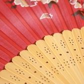 蘇扇真絲古風扇子折扇女式中國風折扇舞蹈扇日式櫻花小扇