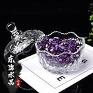 天然紫白粉黃水晶碎石手鍊消磁