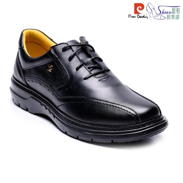 皮鞋.pierre cardin 皮爾卡登 英倫紳士真皮休閒鞋.黑色【鞋鞋俱樂部】【167-PDM8882】