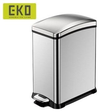 EKO 樂活緩降靜音不鏽鋼垃圾桶 15L