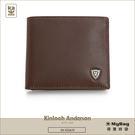Kinloch Anderson  金安德森  皮夾 單色優質男  咖啡色 牛皮短夾子母分離式 KA53302 MyBag得意時袋