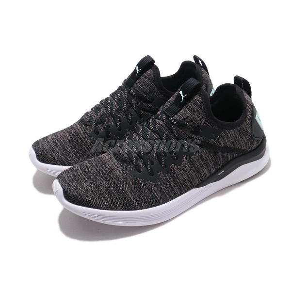 Puma 訓練鞋 IGNITE Flash EvoKNIT Wns 黑 灰 針織 多功能 慢跑鞋 運動鞋 女鞋【ACS】 19051117