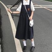 夏季可愛裙子仙女超仙森系日系韓版學生背帶裙女夏長款洋裝 魔法鞋櫃