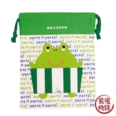 【日本製】【Rub a dub dub】可愛束口袋 青蛙圖案(一組:3個) SD-9141 - Rubadubdub
