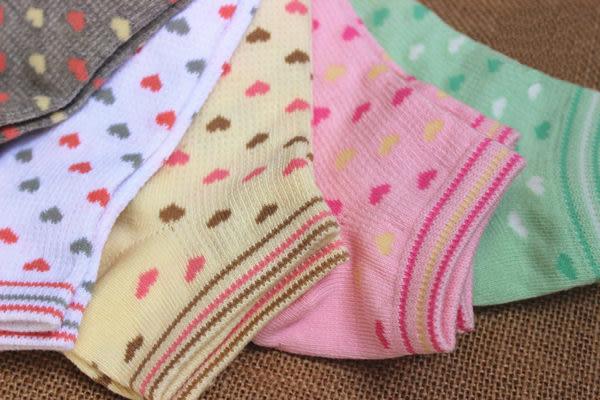 襪子【FSW009】拼色愛心款船型襪 隱形短襪  SORT