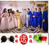 新款中式結婚禮服 喜慶伴郎伴娘服時尚長衫 長袍民國古裝 超值價