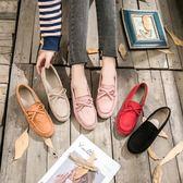 豆豆鞋女平底單鞋春季牛筋軟底休閒鞋懶人孕婦鞋媽媽平跟瓢鞋 可然精品