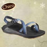 丹大戶外用品 美國【Chaco】Z2男-冒險旅遊涼鞋 夾腳款 型號CH-VYM02 色號-H264 藍色系