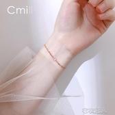 銀閃鑽長條手鍊簡約個性小眾設計冷風手環韓版女學生飾品  布衣潮人