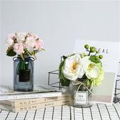花瓶北歐擺件玻璃透明ins風小清新創意客廳辦公室桌面家居裝飾品 雙11大促