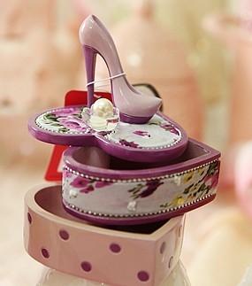 【協貿國際】高跟鞋首飾盒可旋轉-紫
