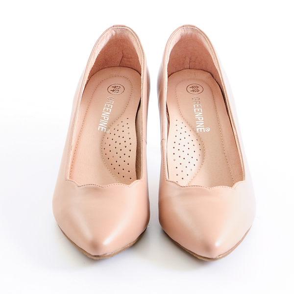 ★新品上市★GREEN PINE 羊皮跟鞋  -米色