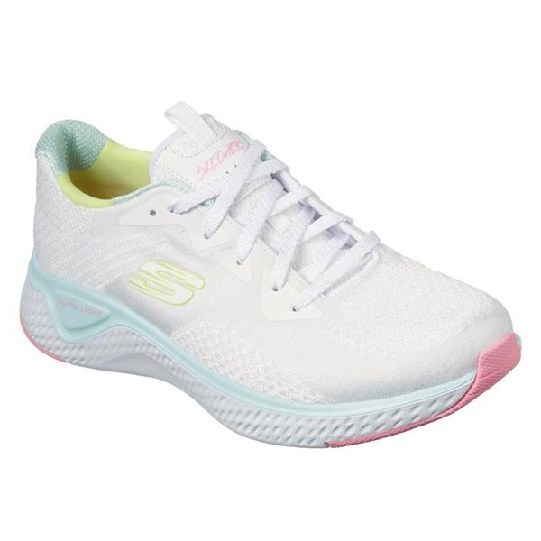 SKECHERS系列-SOLAR FUSE - BRISK 女款白色運動休閒慢跑鞋 -NO.13328WMLT