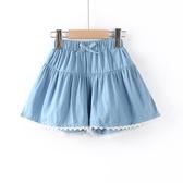 女童短褲 女童薄款牛仔短褲外穿夏裝純棉洋氣女孩中大兒童褲子寬鬆熱褲裙褲-Ballet朵朵