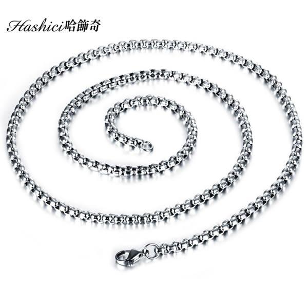 [哈飾奇]316L抗過敏不生鏽鋼鍊/方珍珠鍊/單戴配墬/交換禮物/情人節禮物【DKS744】單條價