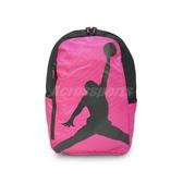 Nike 後背包 Jordan ISO Pack Peach Medium 桃紅 黑 飛人 男女款 【PUMP306】 8A1911-A5P