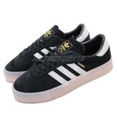 【六折特賣】adidas 休閒鞋 Sambarose W 黑 白 女鞋 膠底 金標 鬆糕鞋 厚底 增高鞋 【PUMP306】 EE4678