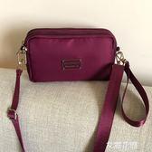 中老年人斜挎包迷你小包包中年女包媽媽買菜手拿包布藝手機零錢包『艾麗花園』