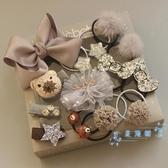 兒童髮夾 兒童發夾發圈套裝禮盒公主皇冠蝴蝶結頭飾女發飾周歲禮物 星隕閣
