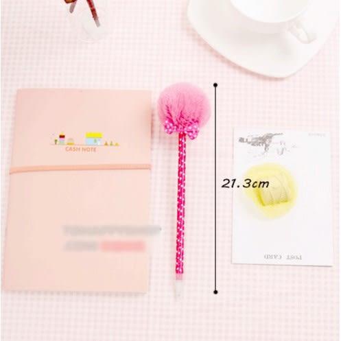 [協貿國際]  韓版文具可愛蝴蝶結毛絨毛毛球筆圓珠筆 (8個價)
