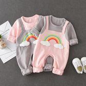 【618好康鉅惠】嬰兒連身哈衣春秋裝三六九個月嬰幼兒衣服