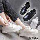 PAPORA學院風綁帶牛津鞋K94488黑/米(偏小)