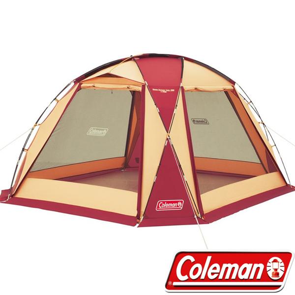 Coleman ★買就送寶貝燈★ CM-27291-380勃根地 圓頂網