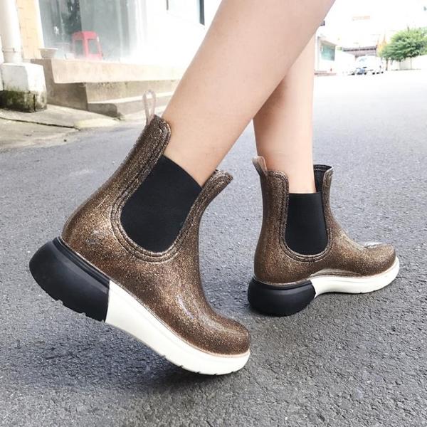 時尚雨鞋女成人短筒水鞋
