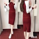 兩件式洋裝 2019秋冬新款韓版氣質潮流淑女包臀針織裙女 YN1117『易購3c館』