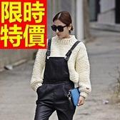 針織衫高領風靡顯瘦-韓流羊毛長袖溫暖女毛衣2色63aa15【巴黎精品】