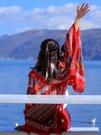 民族風圍巾超大防曬披肩女夏季薄款外搭空調絲巾百搭海邊沙灘紗巾 黛尼時尚精品