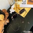 復古風Lolita網紅眼鏡錬條女掛脖墨鏡太陽眼鏡防滑掛錬時尚 黛尼時尚精品